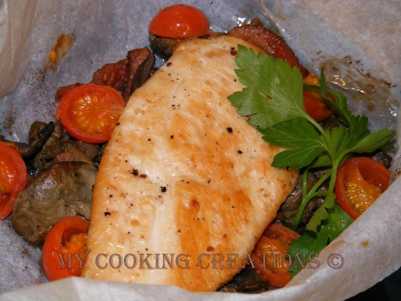 Пилешки гърди във фолио * Petti di pollo al cartoccio