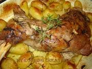 Агнешко бутче с пресни картофи * Spalla di agnello con patate arrosto
