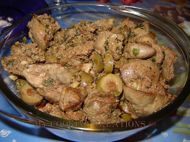 Пилешки дробчета по марокански