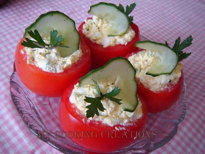 Пълнени домати с млечен пастет * Pomodori ripieni con formaggio