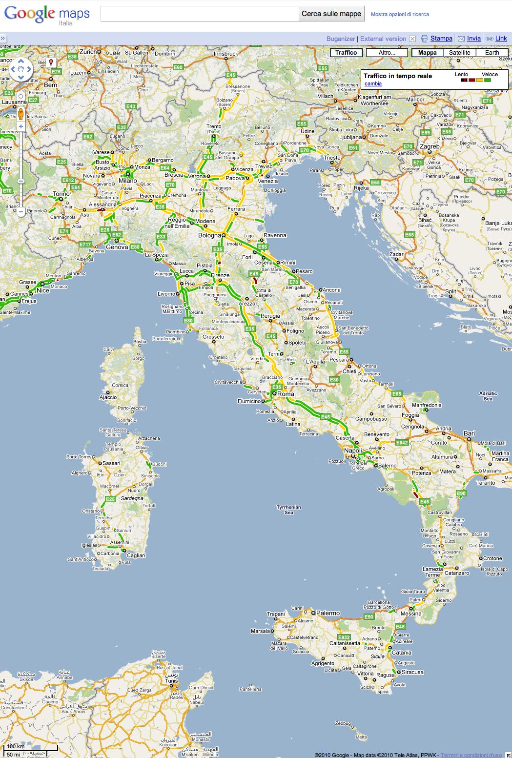 Cartina Italia Google Maps.Le Technoblog Du Lac Google Maps Trafic En Temps Reel Pour L Italie O