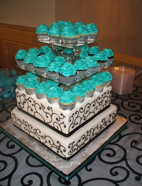 wedding cake turquoise that s a cake black white and turquoise wedding 26731