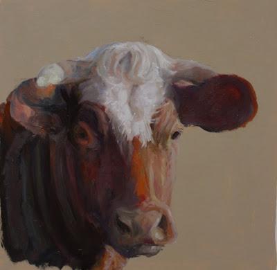 C a p t o n peinture animaliere petits tableaux de vaches - Vache normande dessin ...