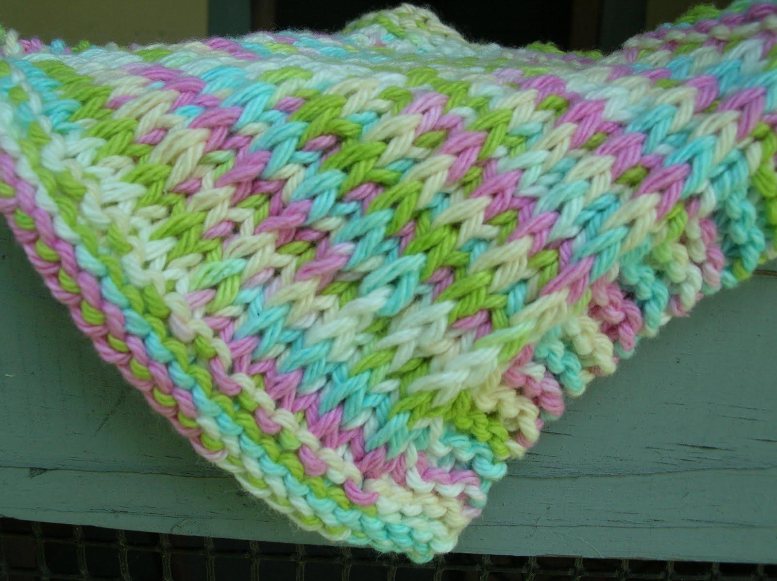 Pickin Knits Pattern Co Slip Stripe Baby Washcloth