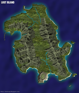 Lost island map template