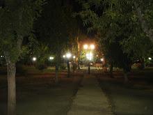 Plaza de Talcamávida de noche