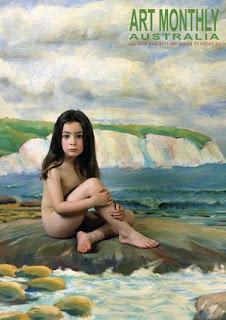 Nude teen girl swimming