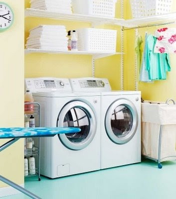 Yellow Laundry Rooms