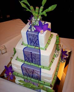 purple and green square wedding cakes wedding cakes pictures purple amp green square wedding cakes 18856