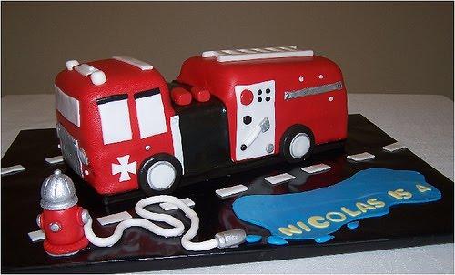 Birthday Cake Fire Truck Birthday Cakes