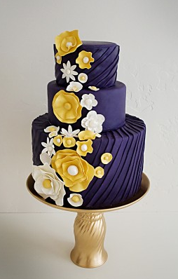 wedding cakes navy blue and yellow wedding cakes pictures blue and yellow wedding cakes 25069