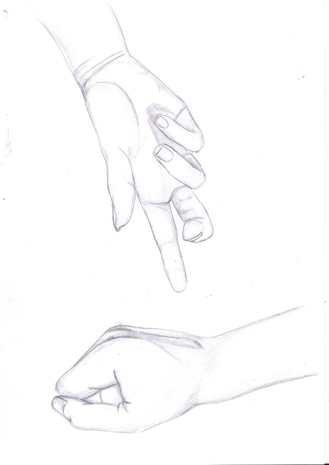 Sam's Blog: Hand Study Drawings