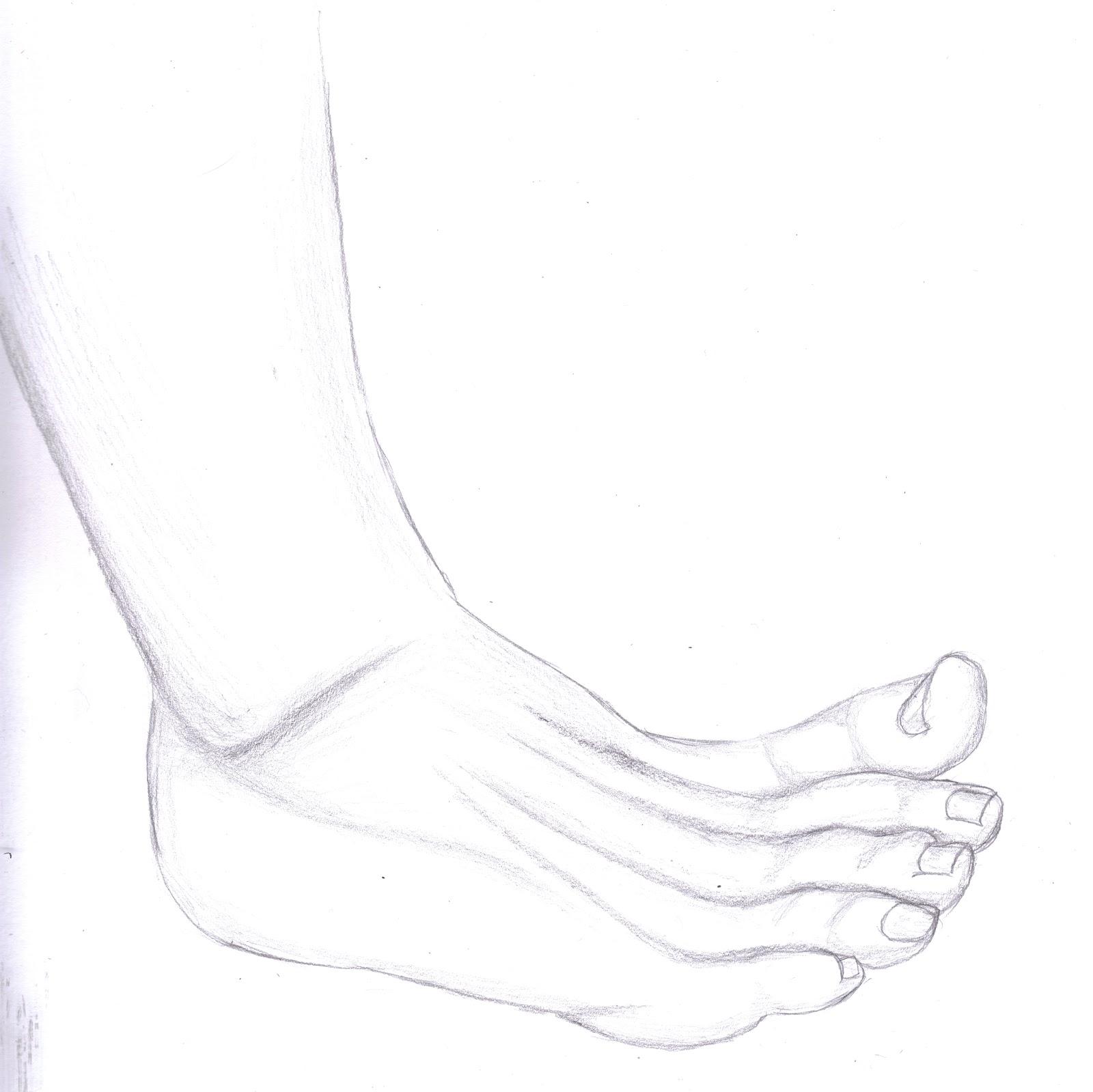 Sam's Blog: Foot Study Drawings