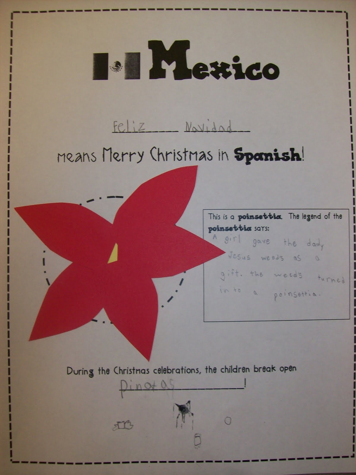First Grader Last Christmas Around The World