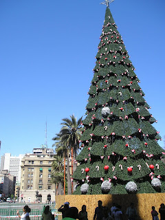 Christmas tree in Santiago