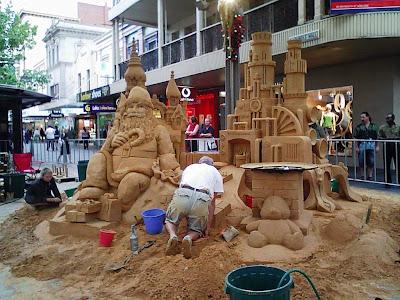 Making sandcastles, Adelaide style
