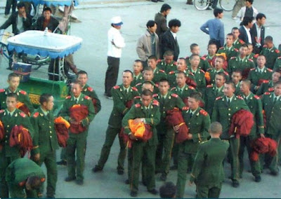 Could they be Chinese troops?  Or just belligerent monks showing their true colours?