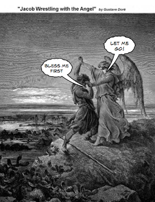 Jacob wrestling with the Angel - Gustave Dore