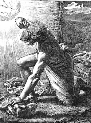 Jacob hears the voice of the Lord - by Frederick Sandys