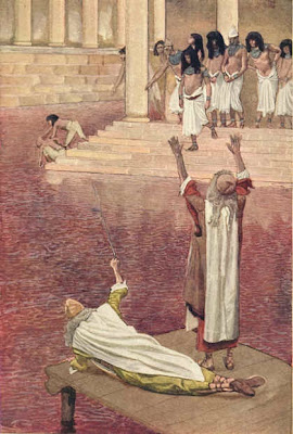 Nile river is turned to blood - by James Tissot