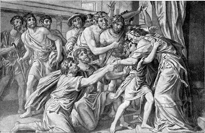 Joseph greeting his brothers - Artist unknown