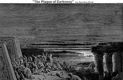 The plague of Darkness by Gustave Dore