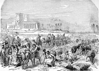 Israelites leaving Egypt - Artist unknown
