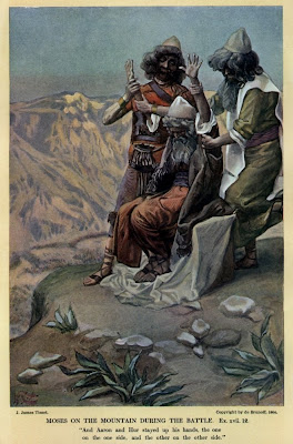 Moses on the mountain during the battle - James Tissot