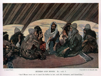 """Jethro and Moses"" by James Tissot"