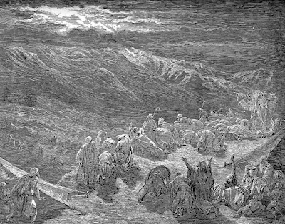 """The Giving of the Law Upon Mt. Sinai"" by Gustave Dore"