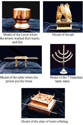 Models of the ark accessories