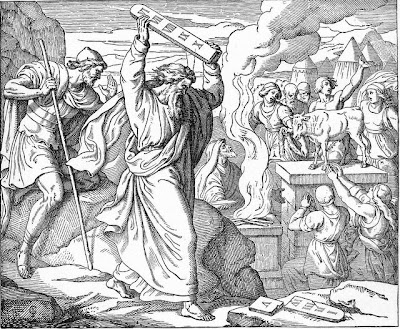 """Moses Breaks the Tablets of Stone"" from Treasures of the Bible (Moses)"