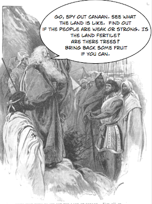 Moses sending the spies into Canaan