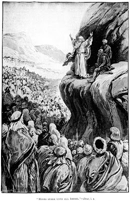 Moses speaks to the people - Paul Hardy