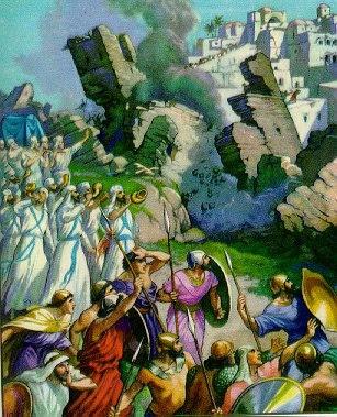 Walls of Jericho fall - Artist unknown