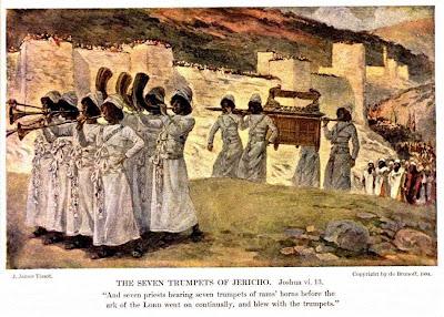 The Seven Trumpets of Jericho - James Tissot