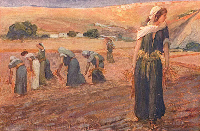 Ruth gleaning in the field - Artist unknown