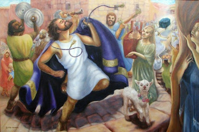 David Brings the Ark to Jerusalem - by Darlene Slavujac Thau
