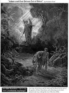Adam and Eve driven out of Edey by Gustave Dore