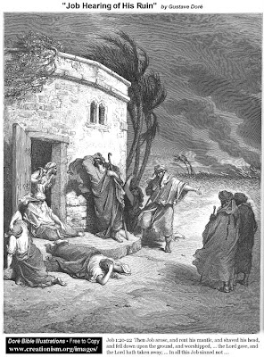 Job hearing of his ruin by Gustave Dore
