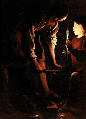 St. Joseph the Carpenter by Georges de la Tour