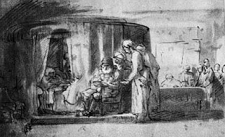"""""""The Naming of John the Baptist"""" by Rembrandt"""