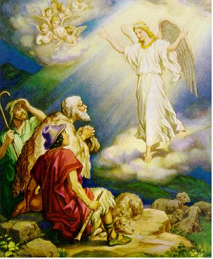 """""""The Shepherds and the Angels"""" - Unknown Artist"""