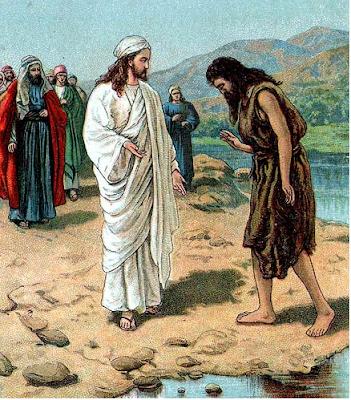 Jesus comes to John - Artist unknown