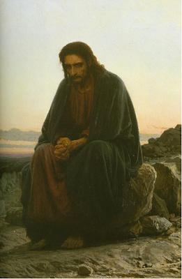 """Christ in the Wilderness"" by Ivan Kramskoy - 1873"