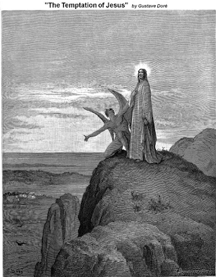"""""""The Temptation of Jesus"""" - Gustave Dore"""