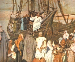 """Jesus teaching from a boat"" - James Tissot"