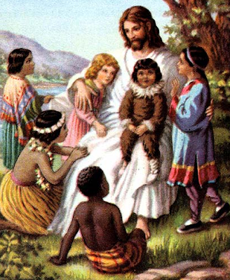 Jesus and the Children - Artist unknown