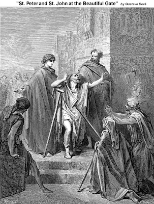 St. Peter and St. John at the Beautiful Gate - Gustave Dore