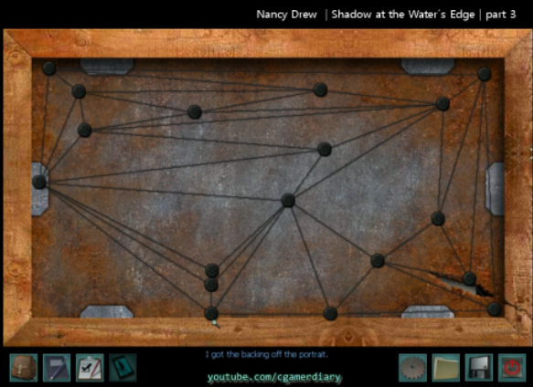 Part P Certificate >> Nancy Drew | Shadow at the Water's Edge | Part 3_Portrait wire puzzle ~ Diary of a Compulsive Gamer